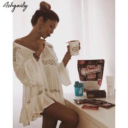 $enCountryForm.capitalKeyWord Australia - 2018 New Bikini Cover Up Embroidery Crochet Swimsuit Women Beach Dress Summer Ladies Bathing Suit Cover Ups Beach Wear Tunic Y19071801