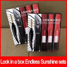 famous lipstick brands 2019 - 2019 Famous brand lip makeup Look in a box Endless sunshine lipstick eyeliner set 5 in 1 makeup sets