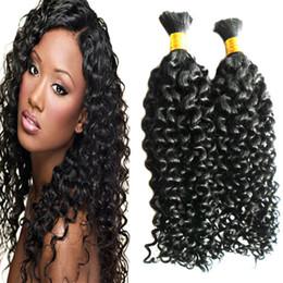 Mongolian kinky cabelo encaracolado 2 pcs cabelo humano para trança a granel sem apego Bundles Trança Extensões de Cabelo venda por atacado