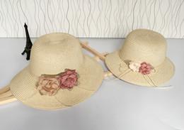 $enCountryForm.capitalKeyWord Australia - Maxi Factory direct sale Grass Braid cap Women and girls Straw Sun Hat Floppy Wide Brim flower Fashion Beach Accessories Packable