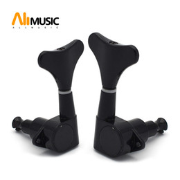 $enCountryForm.capitalKeyWord NZ - Chrome Black Electric Bass Guitar Left and Right hand Tuning Pegs Tuners Machine Heads Tuning Keys buttons Guitar Parts