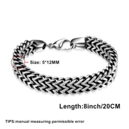 12mm Stainless Steel Beads NZ - Tuswans Quality 316L Stainless Steel 5*12mm Extra Thick Link Chain Bracelets For Men Punk Rock Figaro Chain Wrist Band Wholesale