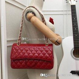 $enCountryForm.capitalKeyWord Australia - New fashion design women's handbag,Silver and gold hardware,Versatile chain bag,Shiny oxhide bags,Lock package,Patent leather flap bag