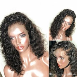 14 curly hair 2019 - Free Shipping Short Lace Front Human Hair Wigs For Women Pre Plucked With Baby Hair Curly Lace Front Bob Wigs Brazilian