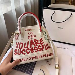 Ladies Handbag Fabric Australia - Ville Day Womens Luxury Designer Graffiti Handbags Black White Green Leather Lady Fashion Classic Shoulder Bag Top Handle Bags Casual Totes