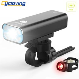 $enCountryForm.capitalKeyWord Canada - Cycloving LED Bike light bicycle lights 5modes waterproof IPX3 1200Lums Rechargeable with bike rear tail light #79122