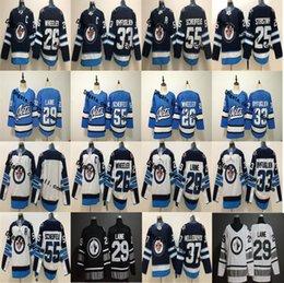 2019 All Star Winnipeg Jets 26 Blake Wheeler 29 Patrik Laine 25 Stastny 33  Dustin Byfuglien 55 Mark Scheifele 37 Hellebuyck Hockey Jersey 53e0e3737