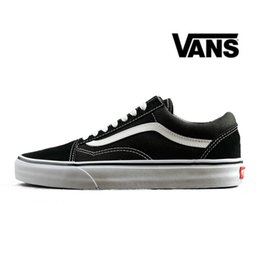 Black Van Shoes NZ - VANS Old Skool Black White Skateboard Classic Canvas  Casual Skate Shoes 8f6fa0a7ed3