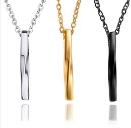 $enCountryForm.capitalKeyWord Australia - Hotest Men's Fashion Titanium steel Pendant Baseball Bat Classic Twist Necklace