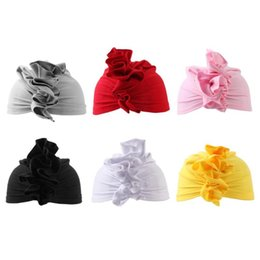 free baby wraps Australia - Newborn Baby Hats Cute Knot Tie India Style Hat Kids Girls Soft Cotton Caps Beanie Flower Head Wrap Turban Headwear free shipping wholesale