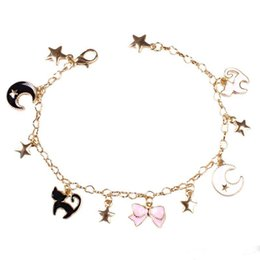 Cardcaptor Sakura 20th Anniversary Bowknot Golden Jewelry Keychain Pendant Bag Charms Handbag Accessory Purse Ornament Bag Parts & Accessories