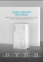 mini portable iphone external charger UK - Romoss Sense4 Mini Power Bank 10000mAh Fast Charge Powerbank 10000mAh Portable External Battery Charger For iPhone Xiaomi Huawei
