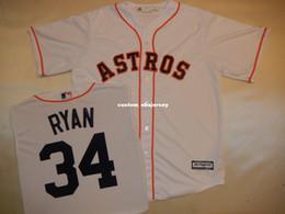 1c9a11d3b1d Cheap custom NOLAN RYAN Baseball Jersey WHITE New Stitched Customize any  name number MEN WOMEN BASEBALL JERSEY XS-5XL