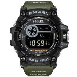 $enCountryForm.capitalKeyWord Australia - Digital Wristwatches Military Sports SMAEL Men Watch 50M Waterproof LED Alarm Clock Relojes Hombre 8010 Sport S Shock Watches Men