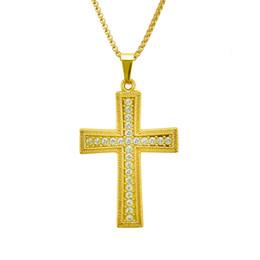 Necklace three crosses online shopping - Diamond Three dimensional Cross Pendeloque Cut Necklace Hiphop Hip hop Man Hip Hop Personality Pendant Designer Jewelry Ringe Cuban Link