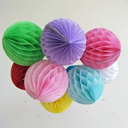 $enCountryForm.capitalKeyWord Australia - Round Paper Ball Honeycomb Ball With Tissue Flower Chinese Paper Lantern For Wedding Kid Birthday Party Decorations lin4718