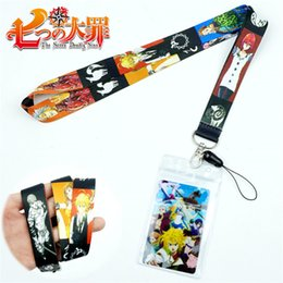 Cute Phone Chains Australia - Anime The Seven Deadly Sins Lanyards Neck Strap for keys ID Card Mobile Phone Straps USB Badge Holder Rope Cute Key Chain Gift