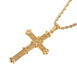$enCountryForm.capitalKeyWord UK - Cross Chain Necklace Men Crucifix Pendant Women Gold Color Christian Catholic Jewelry
