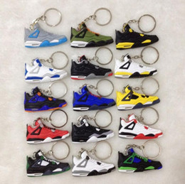 $enCountryForm.capitalKeyWord Australia - NEW Styles 4s Basketball Shoes Key Chains Rings Charm Sneakers Keyrings Hanging Accessories Novelty Fashion Keychain Gifts Crafts