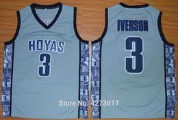 $enCountryForm.capitalKeyWord Australia - Mens College 3 Allen Iverson Jersey Men Sale Sports Georgetown Hoyas Basketball Jerseys Uniforms Stitched Blue Black Gray NCAA
