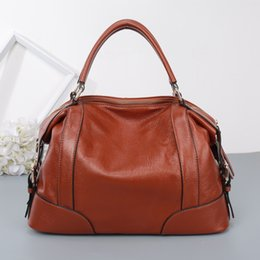 $enCountryForm.capitalKeyWord NZ - Charm2019 Fashion Genuine Leather Cowhide Portable Bale Pure Color Litchi Lines Single Shoulder Bag Cool Time Support Special Package
