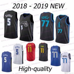 Hawks sale online shopping - Hawks jerseys Trae Young Mohamed Bamba Luka Doncic Hot sale high quality new tracksuit jersey
