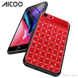 Iphone Cases Rhinestones Wholesale Australia - AICOO Rhinestone Weave Drilled Shockproof Noble Full Protection Mobile Shell Cases for iPhone XS MAX XR XS Samsung Note9 OPP