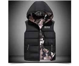 Men vests printed online shopping - 2018 Men s Packable north Down vest outdoor Lightweight Jackets mens Water Repellent Puffer face vest m xxl