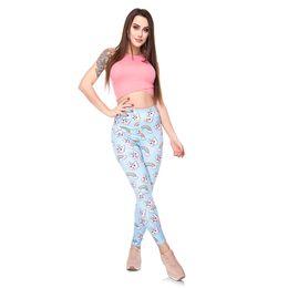 $enCountryForm.capitalKeyWord NZ - Lady High Waist Leggings Cat Rainbow 3D Digital Full Printed Sports Pencil Pants Girl Casual Jeggings Woman Stretchy Gym Trousers (Y50541)