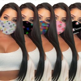 Wholesale 7 style brand fashion unisex face masks washable breathable luxury designer mask trendy print reusable windproof anti-dust cycling masks