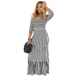 $enCountryForm.capitalKeyWord Australia - Women's Autumn And Winter Elegant Casual Loose Striped Long Tassel Dress Long Sleeve With Pocket Maxi Dress