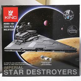 Venta al por mayor de Rey Brand Imperial estrella Destructores caja de color Niños Juguete Súper Imperio Destructor Bloque de construcción de juguete rompecabezas