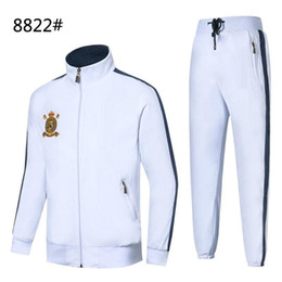polo schwitzt großhandel-Herren Hoodies und Sweatshirts Sportswear Herren Polo Jacken Hosen Jogging Jogger Sets Rollkragen Sport Trainingsanzüge Trainingsanzüge