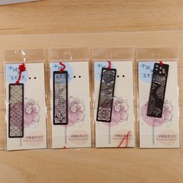 $enCountryForm.capitalKeyWord Australia - 4pcs lot Chinese Classical Style Bookmark Merlin Bamboo Chrysanthemum Plum Orchid Flowers Metal Book Marks