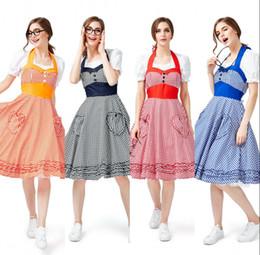 $enCountryForm.capitalKeyWord Australia - Women Ladies Oktoberfest Costumes Dress Swing Farm Garden Beer Maid Authentic German Dirndl Party Halloween Sweet Dress CPA3061