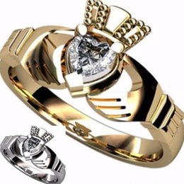 $enCountryForm.capitalKeyWord Australia - titanium milling Size 5 6 7 8 9 10 Stainless Steel Claddagh Ring Heart Wedding Engagement Anniversary Irish Birthday Cocktail anniversary