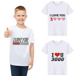 $enCountryForm.capitalKeyWord Australia - Summer Fashion T-Shirts Baby Kids Girls Boys I Love You 3000 Letter Printed Short Sleeve T-shirt For 1-5 Year Kids Clothes #BL2