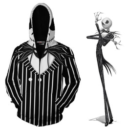 $enCountryForm.capitalKeyWord Australia - Jack Skellington Sally Halloween Cosplay Clothes The Nightmare Before Christmas Clothes Costume Clothing Men Women Zipper Tops