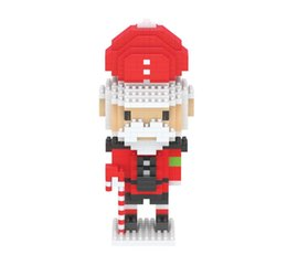Wholesale spell insert Building block mini model toy British soldier By small particles mini palm building blocks artificial ornaments