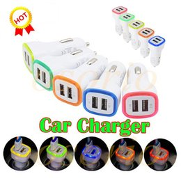 $enCountryForm.capitalKeyWord Australia - 2019 5V 2.1A Dual USB Ports Led Light Car Charger Adapter Universal Charing Adapter for iphone Samsung S10 S9 huawei LG Cell phone