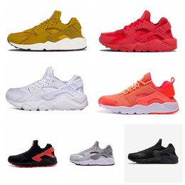 black white stripes roses 2019 - Sale 2019 New Huarache 1.0 4.0 Men Running Shoes Cheap Stripe Red Balck White Rose Gold Women Trainer Fashion Casual Sne