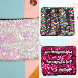 cosmetic zipper bags sequin UK - Makeup storage sequins Storage Cosmetic cosmetic makeup bag toggle color-changing sequins bag coin purse handbag