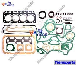 Engine Gasket Set Australia - K4D Overhaul Full Gasket Set Kit for with Head Gasket For Mitsubishi D2001 MT2001X Tractors K4D Diesel Engine Parts