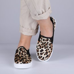 Leopard Flats Shoes Australia - Women Casual Leopard Shoes Fashion Flats Summer Flat Shoes Loafers Flats Roman Slip On Loafers
