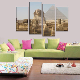 art combinations Australia - 4pcs set Unframed Egypt The Great Sphinx and Pyramid Print On Canvas Wall Art Picture For Home and Living Room Decor