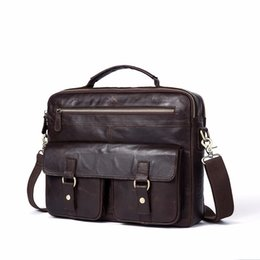 Messenger Bags For Men Leather UK - 2018 New Men Shoulder Bag Messenger Bag Genuine Leather Casual Male man briefcase laptop Men's Crossbody bags for Men Briefcase
