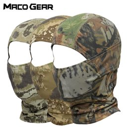 full face ninja mask 2020 - Outdoor Camouflage Tactical Balaclava Full Face Mask Bicycle Hunting Cycling Army Sport Bike Liner Paintball Ninja Cap d