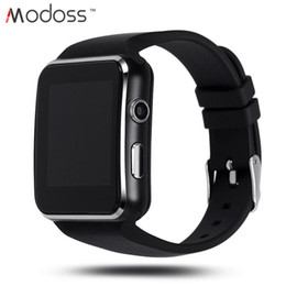 Bluetooth Smart Watch Sim Australia - 2019 X6 Fashion Bluetooth Smart Wrist Watch for android phones with Support SIM Card Slot Camera Music Bluetooth Connection with Package