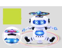 best robot toys Australia - 2019 new hot sale Dancing Robot 360 Rotating Space Musical Walk Lighten Electronic Toy Christmas Birthday Best Gifs For Kids Toys 11