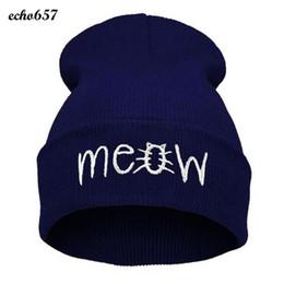 $enCountryForm.capitalKeyWord Australia - New Arrival Echo657 Fashion Winter Knitting MEOW Beanie Hat And Snapback Men And Women Hiphop Cap Nov 11 PY